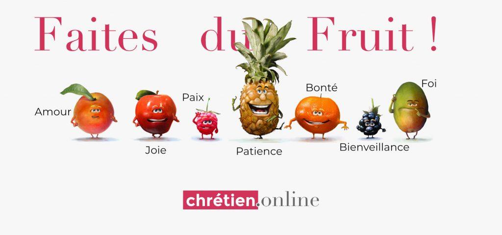 disciple porte le Fruit de l'Esprit