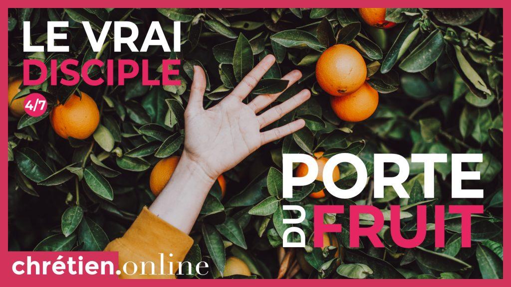 Disciple porte du fruit