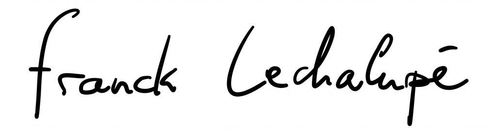 Signature Franck Lechalupé